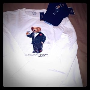 Ralph Lauren Polo Bear White T with cap.